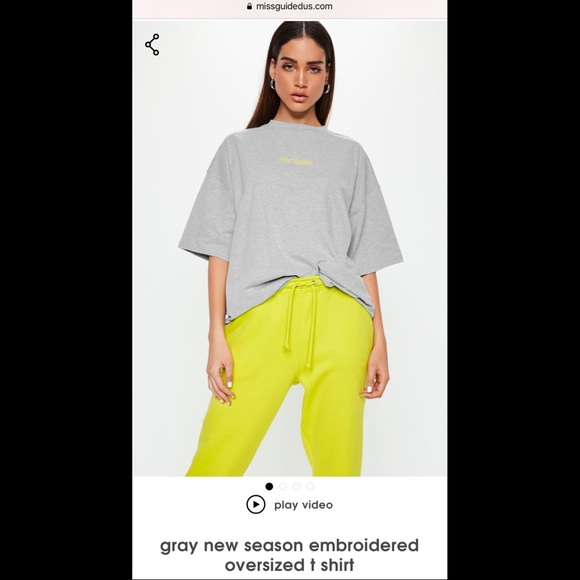 """Missguided Tops - Missguided OverSized """"New Season"""""""